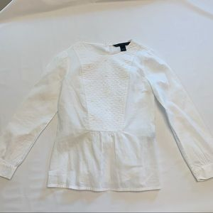 Marc Jacobs Button Embellished Cotton Blouse 4